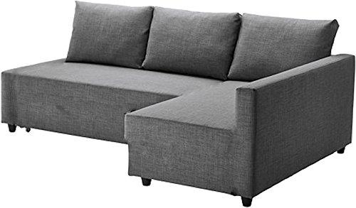 Il grigio scuro Friheten cotone spesso copridivano ricambio realizzata su misura per Ikea Friheten...