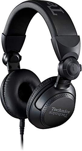 Technics Eah-Dj1200 Cuffie Stereo a Padiglione, Driver da 40 Mm, Braccio Mobile a 270, Cavo di Bloccaggio Rimovibile, Resistenza, Pieghevoli, Nero, Taglia Unica