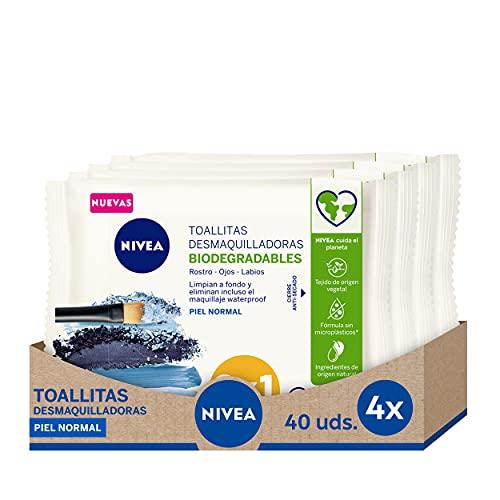 NIVEA Toallitas Desmaquilladoras Refrescantes en pack de 4 (