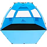 NXONE XL Pop Up Beach Tent, Deluxe Sun Shade Shelter for 4 Person, UPF 50+ Protection, Windproof...