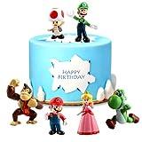 Decoración de Tartas Cumpleaños, Super Mario Cupcake Toppers,Super Mario Toys,Figuras de Super...