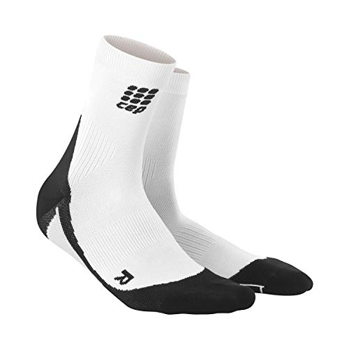 CEP - DYNAMIC+ SHORT SOCKS, Laufsocken kurz für Damen, weiß / schwarz in Größe IV, Sportsocken made by medi