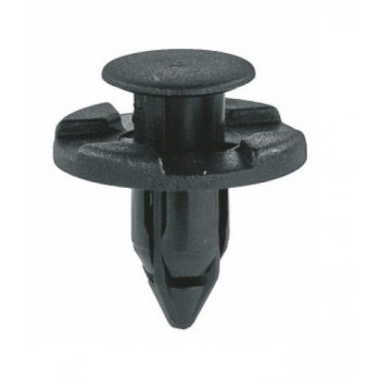 Xtremeauto® Black 8mm Hole Plastic Car Interior Exterior Clips x 10 Includes Sticker Part Number XA07A