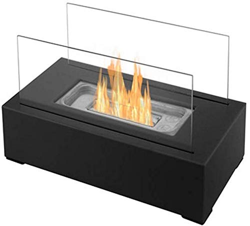 ZHTY Tabletop Bio Ethanol Indoor/Outdoor Portable with Round Stainless Steel Burner Cup Fireplace