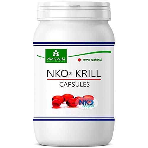 NKO Krillöl Kapseln (Testsieger) 30, 90 oder 270 Stk. in Apothekenqualität - Omega 3,6,9 Astaxanthin, Vitamin E, Choline, Phospholipide, Krill Öl (90 Softgels)