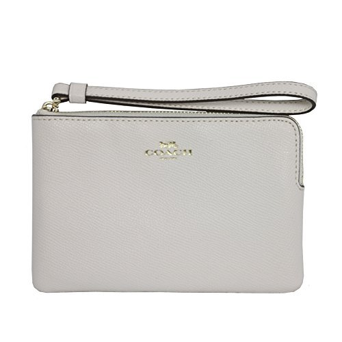 41aDlZWX yL Crossgrain leather with light gold hardware Interior features two credit card slip pockets Corner zip closure with attached wristlet strap