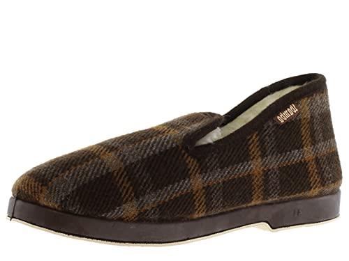 victoria Alpargata WAMBA Confortable Zapatilla DE CASA Textil Cuadros H/Recta 200301-MEN para Hombre Marron 42