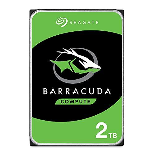 Seagate BarraCuda, 2 TB, Disco duro interno, HDD, 3,5', SATA 6 GB/s, 7200 RPM, caché de 64 MB para ordenador de sobremesa y PC, Paquete Abre-fácil (ST2000DMZ08)