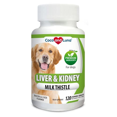 Coco and Luna Milk Thistle for Dogs, Liver Support...