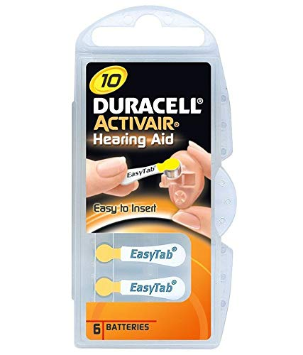 Duracell Activair Hearing aid Batteries Size 10 (Pack of 60) Batteries