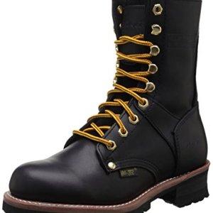 Ad Tec Women's 9″ Logger Black Work Boot