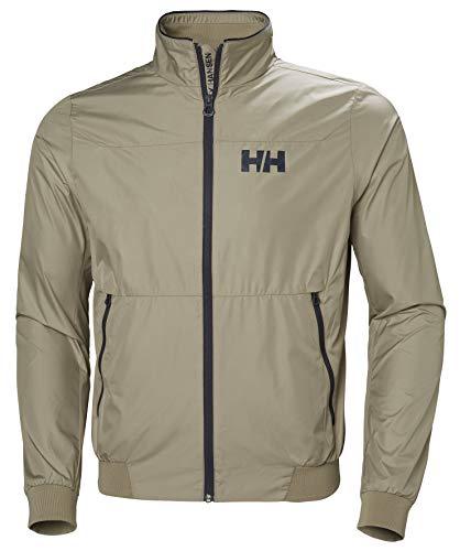 Helly Hansen Crew Windbreaker Jacket, Chaqueta deportiva para Hombre, Verde (Verde 706), X-Large