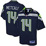 Engineered and constructed to replicate DK Metcalf's game day Pro-Cut jersey. Sizing Tip: Product runs true to size. For a looser fit, we recommend ordering one size larger than you normally wear. Printed Seattle Seahawks wordmarks (where applicable)...