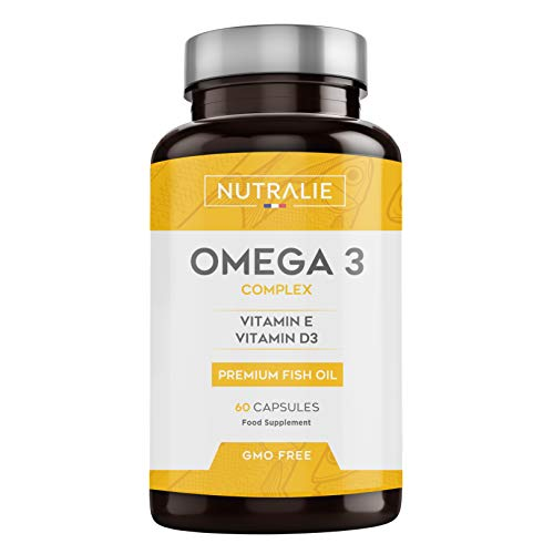 Omega 3 2000mg + Vitaminas D3 y E | 1250mg EPA-DHA por Dosis