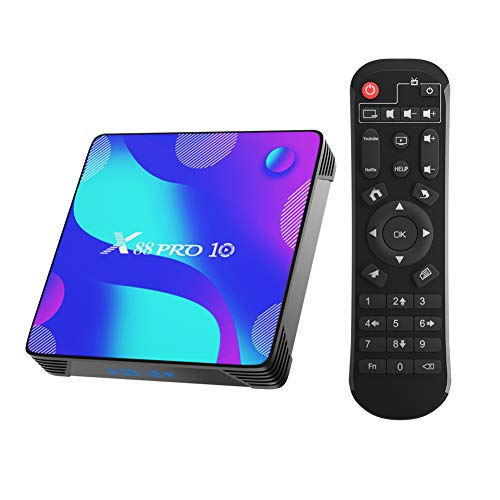 Android 10.0 TV Box,TUREWELL Android 4Go RAM 32Go ROM RK3318 Quad-Core 64bit Cortex-A53 Support 2.4/5.0GHz Dual-Band WiFi BT4.0 3D 4K 1080P H.265 10/100M Ethernet HD 2.0 Smart TV Box