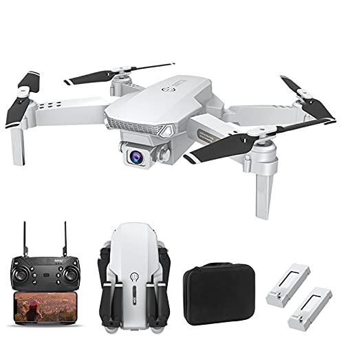 OBEST Mini Drone con Fotocamera 4k, Quadcopter Pieghevole a Doppia Fotocamera, Pressione Dell'aria Ad Altezza Fissa, Posizionamento Del Flusso Ottico, Rotazione a 360 Gradi, Ritorno a Un Tasto