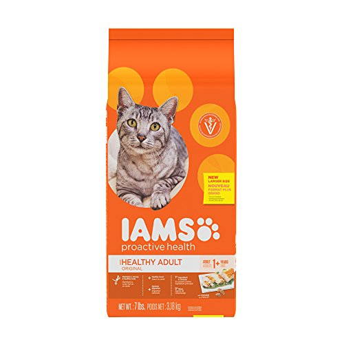 Iams Dry Food Proactive Health Adult Original with Chicken Dry Cat Food, 7 Pound