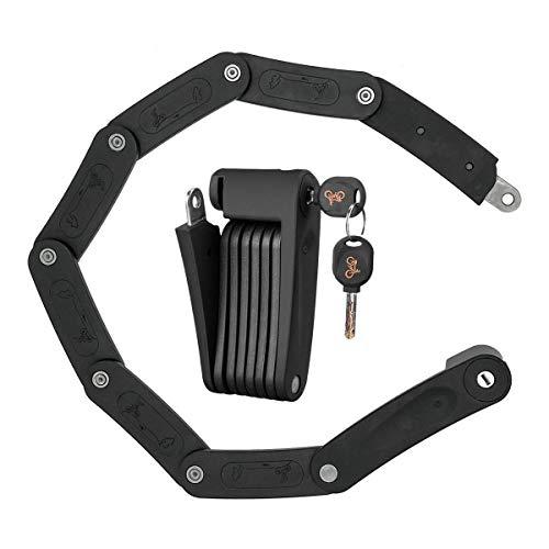 ZITFRI Antivol Velo Pliable Résistant aux Cisailles Hydrauliques et à la Coupe - Cadenas Vélo Serrure Pliante pour Trotinette Electrique Moto et Velo Electrique - Antivol Acier Portable avec Clés