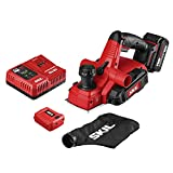SKIL PWRCore 20 Brushless 20V 3-1/4 Inch Planer, Includes 4.0Ah Lithium Battery and PWRJump Charger - PL593802