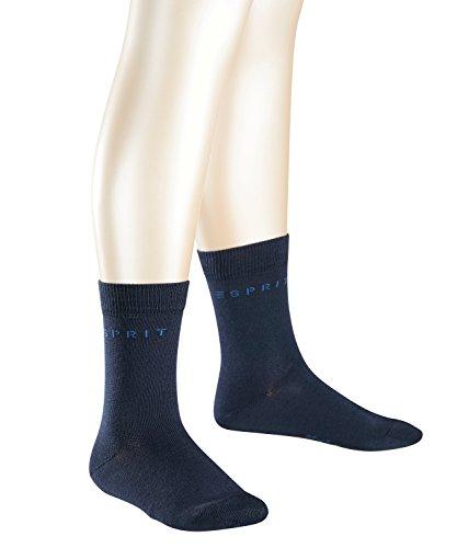 ESPRIT Kids Foot Logo 2-Pack K SO Calzini, Blu (Marine 6120), 35-38 (Pacco da 2) Unisex-Bambini