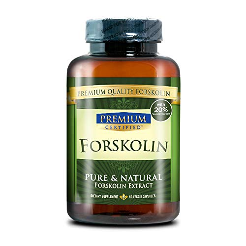 100% Pure Forskolin Premium Extract - 20% Coleus Forskohlii - Natural Weight Loss, Fat Burner and Belly Buster - 360 Veg Capsules (6 Months Supply) 3