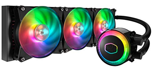 Cooler Master MasterLiquid ML360R RGB Refroidisseur liquide CPU, synchronisation d'éclairage ARGB, conception de pompe Premium et 3 ventilateurs MF120R ARGB