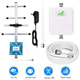 Verizon Cell Phone Signal Booster 4G LTE Mobile Signal Booster Amplifier FDD Verizon Cell Phone Booster Repeater 700MHz Band 13 65dB with Whip/Yagi Antennas - Boost 4G Data and Voice for Remote Area