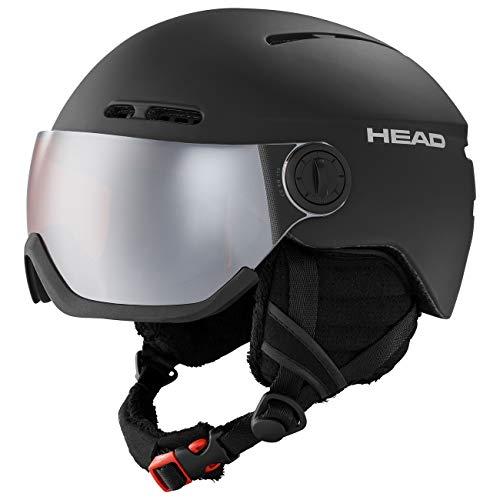 Head Knight, Casco da Sci Unisex-Adult, Nero, M/L