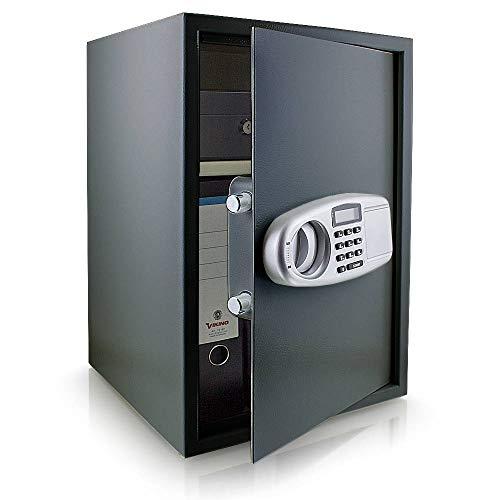 BITUXX® Elektronischer Safe Tresor Wandtresor Wandsafe Geldschrank Möbeltresor Stahlschrank Geldsafe Geldtresor Panzerschrank Dokumententresor Grau