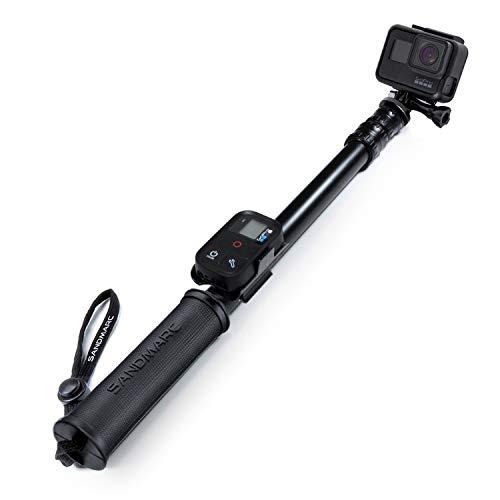 SANDMARC Pole - Black Edition: 42-103 Impermeabile Pole (Stick) per GoPro Hero 6, 5, 4, 3, 2, HD Cameras - Alluminio Telescopico Design