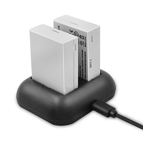 ENEGON Batteria di ricambio (2-Pack) e caricatore rapido doppio per Canon LP-E8 e fotocamera digitale Canon EOS Rebel T2i, T3i, T4i, T5i, EOS 550D, 600D, 650D, 700D, Kiss X4, X5, X6, X6i, X7i