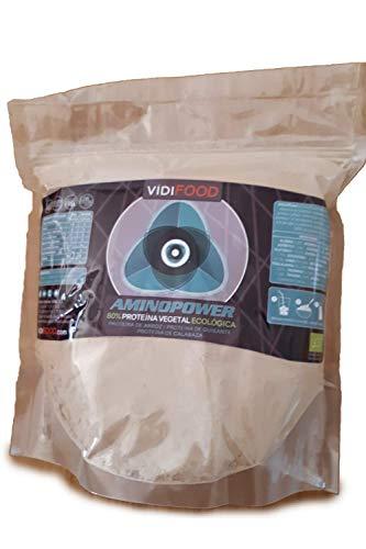 Bio Aminopower Proteinpulver| 1kg |Mischung aus Reis-, Erbsen- und Kürbisproteinen | Aufbau von Muskelmasse & Energiezufuhr |80% Protein & Aminosäuren | Für Veganer geeignet | Geschmacksneutral
