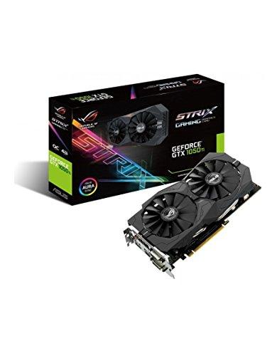 ASUS STRIX-GTX1050TI-4G Scheda Grafica da 4 GB GDDR5, 768 Core, 1290MHz GPU, 1392MHz, Nero