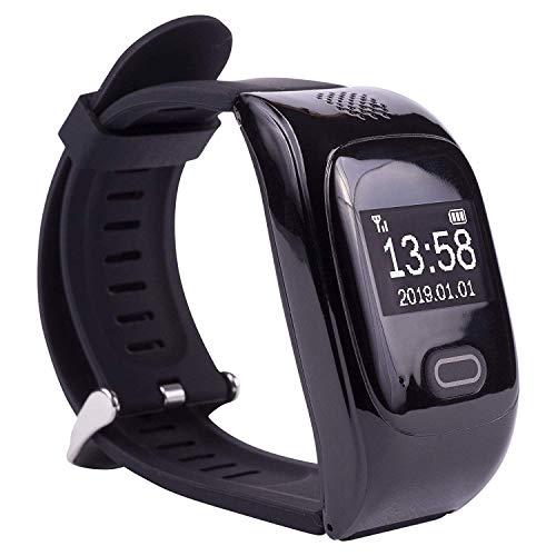 tellimed Solino - GPS Notfall Uhr als Smartwatch mit 14+ Funktionen für maximale Sicherheit Zuhause & Unterwegs - Notruf Senioren, Erwachsene & Kinder - 0,95 Zoll OLED Display - Schwarz