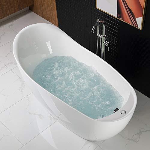 Woodbridge BTS1610/B0033 67' Air Bubble Freestanding Bathtub with Chrome...