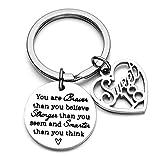 Jvvsci 18th 21th Birthday Keychain Birthday Gift For Women Birthday Jewelry Inspirational Gifts (18th)