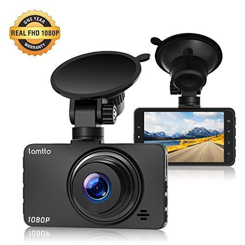 Lamtto Autokamera Full HD 1080P Dashcam Armaturenbrett Kamera 3 Zoll LCD-Bildschirm Video Recorder Fahren 170 ° Weitwinkel, G-Sensor, WDR, Parkmonitor, Loop-Aufnahme, Bewegungserkennung Dash Cam