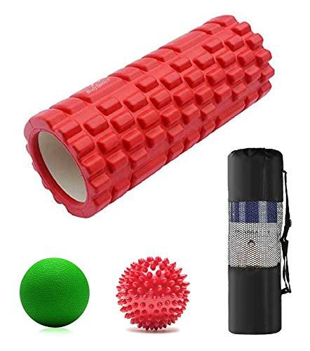 Bodylastics Foam Roller for Deep Tissue Massage (Red, 33 cms)