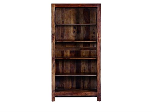 Made Wood Solid Wooden Book Shelf in Provincial Teak Finish