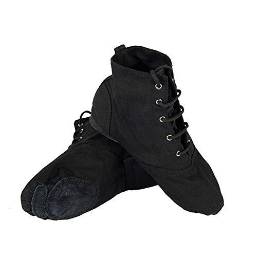 Homieco Zapatos de Baile Bota Suela Suave, Ballenas Modernas con Cordones Jazz Stage Balle