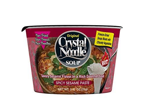 Crystal Noodle Soup, Spicy Sesame Paste