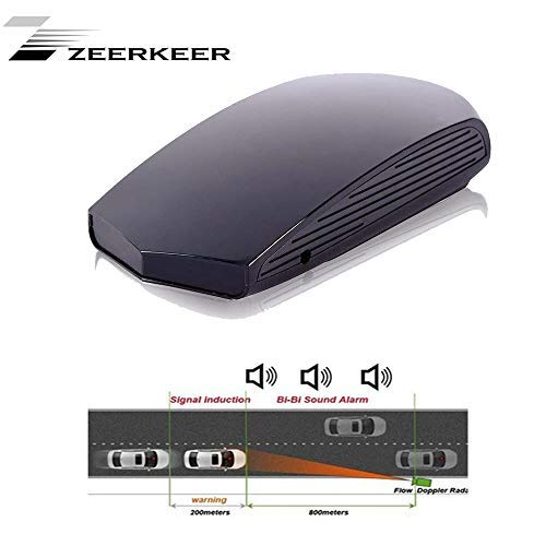 Zeerkeer,Radar detektor Radarwarner Blitzerwarner Sprachwarnungen Sicherheit(nur Englisch und Russisch)