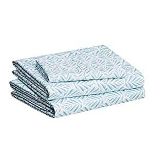 "Twin sheet set includes (1) 66 x 96 inch flat sheet, (1) 38 x 74 x 14 inch fitted sheet, and (1) 20 x 30 inch pillowcase All-around elastic on 14"" fitted sheet allows for snug, secure fit of most mattress sizes up to a 16"" mattress depth Polyester mi..."