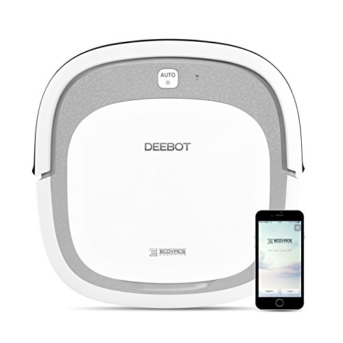 ECOVACS DEEBOT Slim2 Robotic Vacuum Cleaner for Bare Floors Only with Dry Mopping Feature