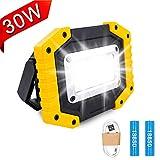 Projecteur de Chantier LED Rechargeable – Trongle Lumière de Sécurité...
