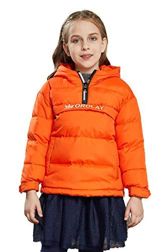 Orolay Girl's Packable Down Coats Lightweight Winter Coat Puffer Jackets Flame 130cm