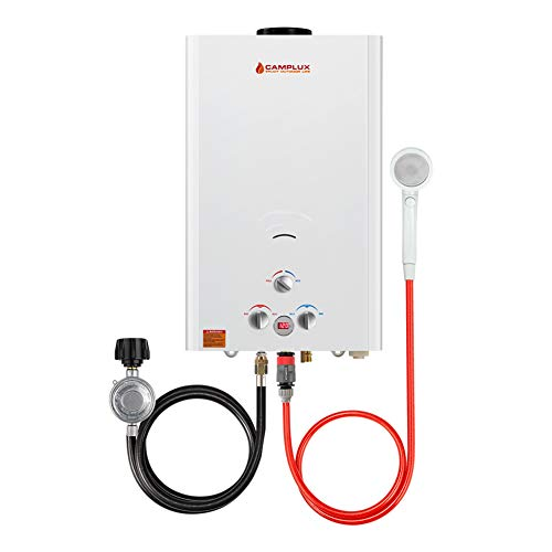 Camplux 16L Outdoor 4.22 GPM Digital Display Propane Gas Tankless Water Heater