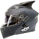 Motorcycle Bluetooth Helmet, Modular Flip-Type Double Sun Visor Full Helmet, DOT Certified Helmet, Built-in Mp3 FM Broadcast Integrated Communication System