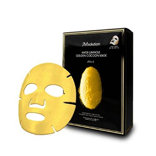 JMsolution Máscara luminosa de capullo dorado de agua negro 45 g x 10ea