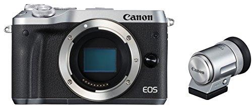 Canon ミラーレス一眼カメラ EOS M6 ボディ(シルバー) EVFキット EOSM6SL-BODYEVFK